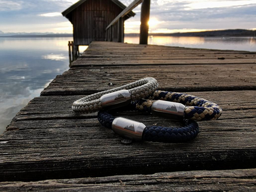 Zauberhafte Armbänder aus Segeltau
