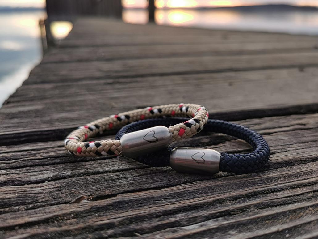 Maritimer Spirit / Zauberhafte Armbänder aus Segeltau
